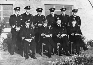 The First Sea Lord At A Fleet Air Station 18 October 1944