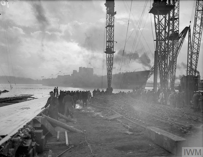 Hms Vanguard British Lion Class Battleship 1952