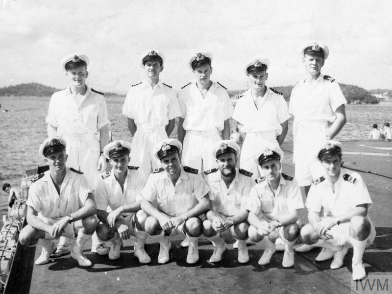 WITH THE ILLUSTRIOUS. FEBRUARY 1945, ON BOARD THE CARRIER HMS ILLUSTRIOUS IN FAR EASTERN WATERS.