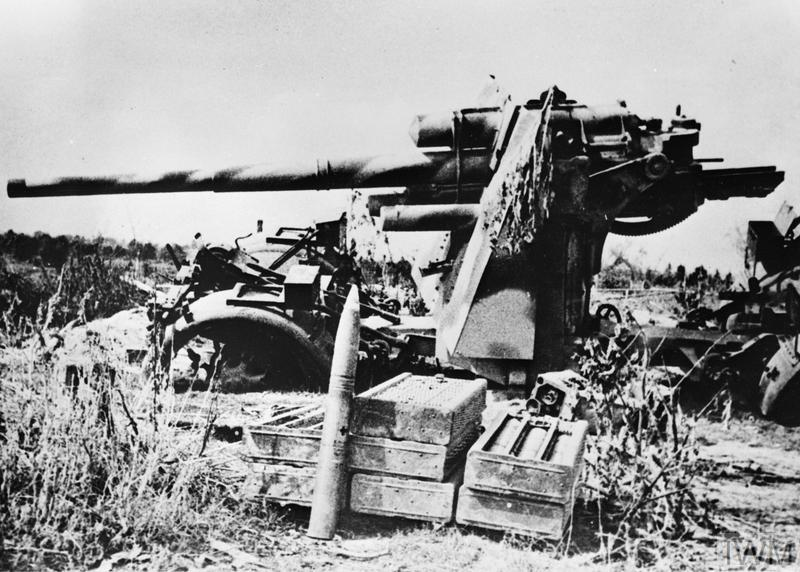 This German gun was blasted by Soviet artillery in the Briansk sector of the Eastern front.