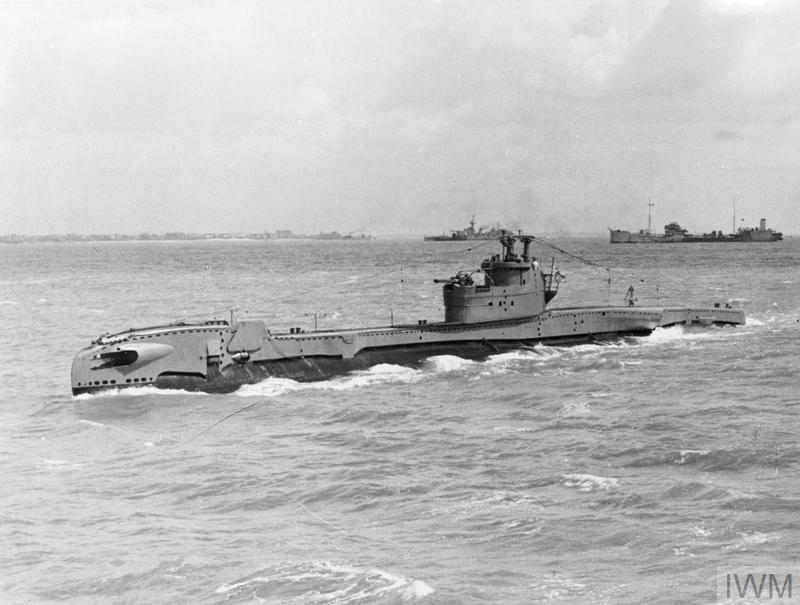 HMS/M TIRELESS, BRITISH TRITON CLASS SUBMARINE  MAY 1945, AT