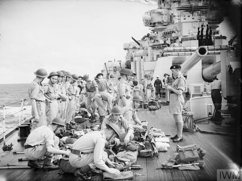 SHIPS OF THE BRITISH PACIFIC FLEET ON THE WAY TO TOKYO AND HONG KONG. AUGUST 1945, ON BOARD HMS ANSON, WHILE HONG KONG BOUND.
