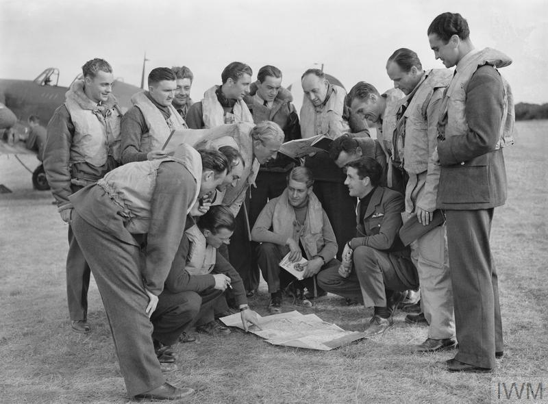 Czech pilots of No. 310 Squadron at RAF Duxford in September 1940.