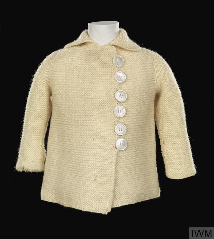 Jacket, knitted (child's suit): infant's, civilian