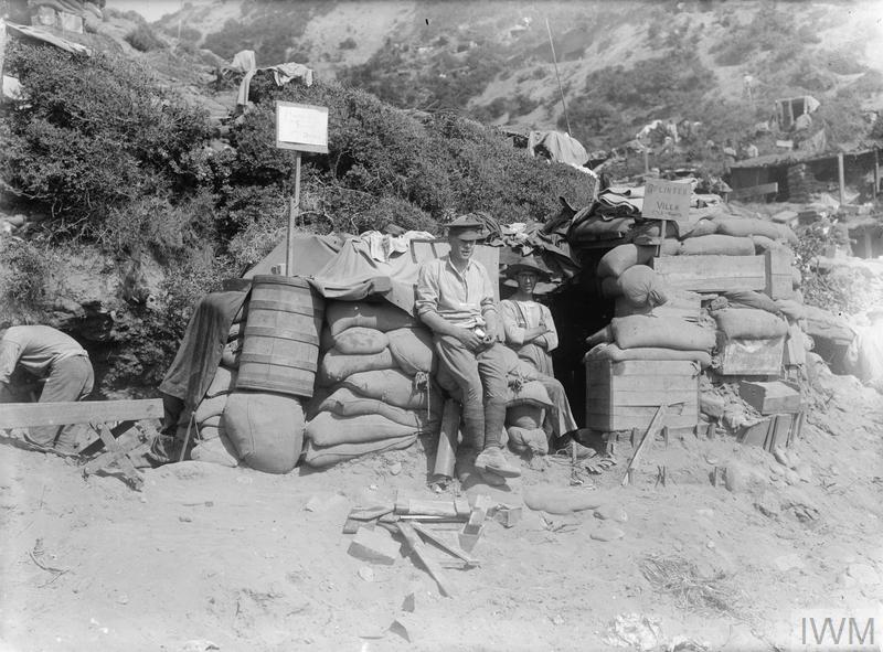 "Periscope Supply Depot Dugout ""Splinter Villa"" - home to two Australians on the Anzac Beach. As hopes of a quick victory faded, the congested lodgement areas created crowded and insanitary living conditions, aggravated by heat and flies as the summer advanced."