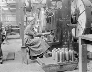 Woman manufacturing shells