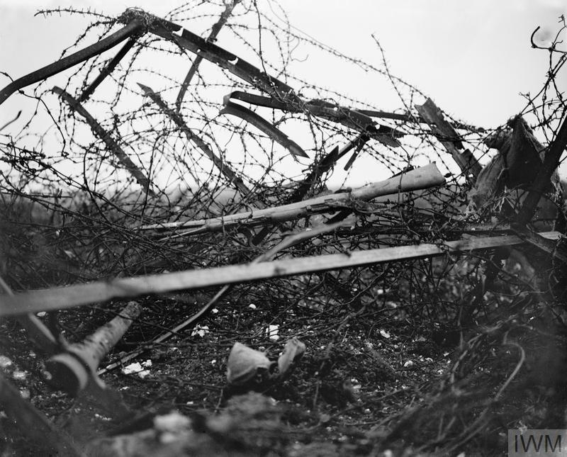 German barbed wire entanglement at Beaucourt-sur-Ancre
