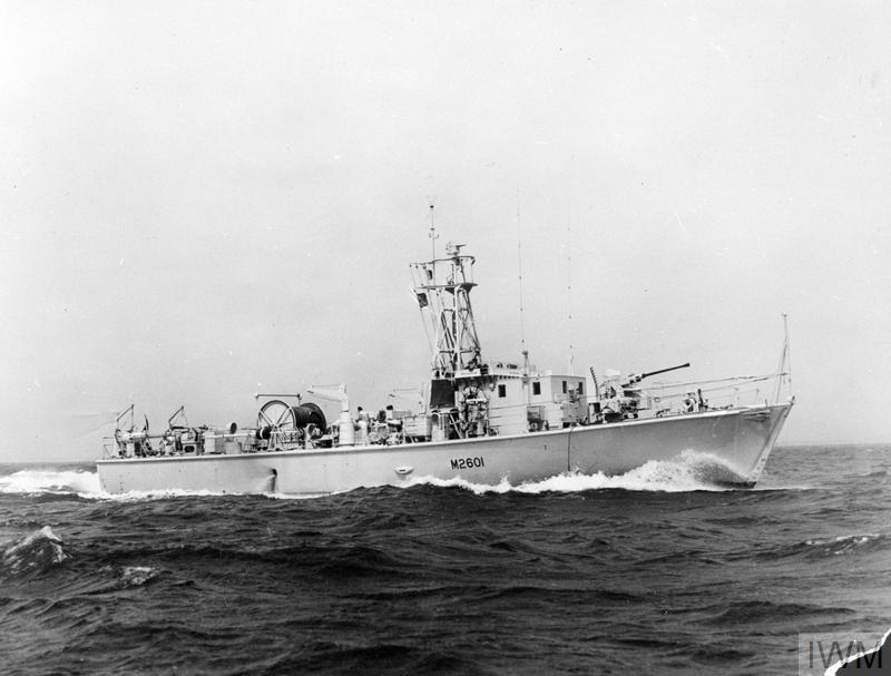 Hms Inglesham British Ham Class Inshore Minesweeper 1953