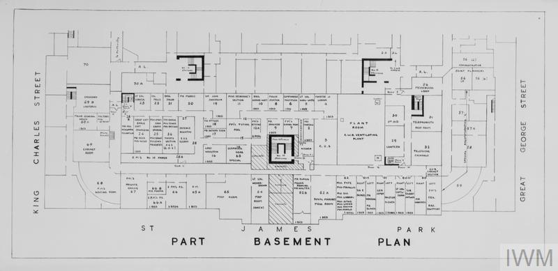 PLANS OF THE CABINET WAR ROOMS