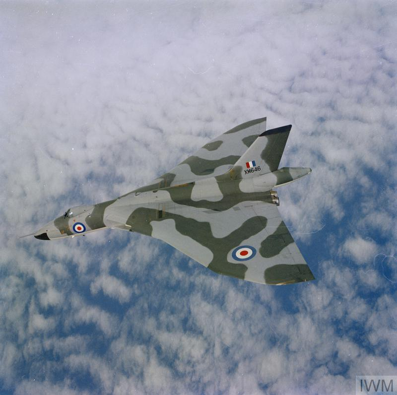 The Avro Vulcan flying above the clouds