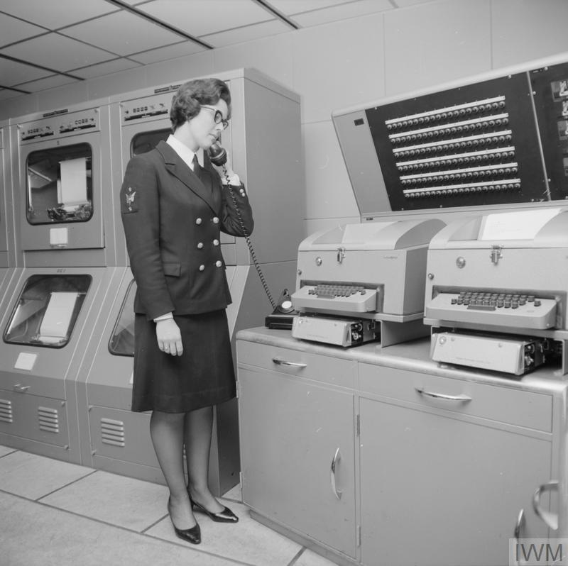 Petty Officer Wren Hilary Wilson at the TARE Control position.