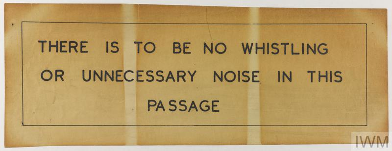 no whistling sign from the cabinet war rooms imperial war museums