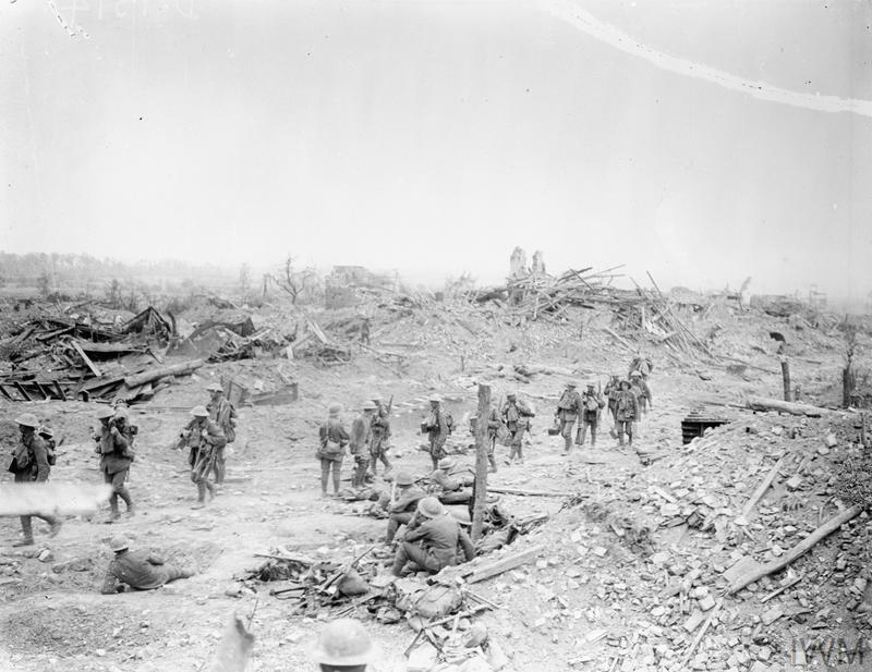 Village of Wytschaete captured on 7th June 1917 by the 16th (Irish) and 36th (Ulster) Division. 8 June 1917.