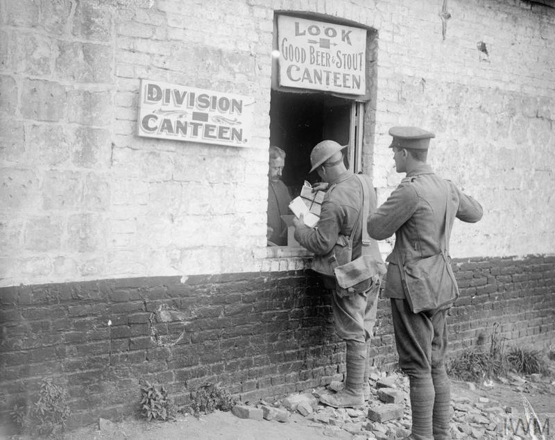 A Divisional wet canteen at Zillebeke, 24 September 1917.