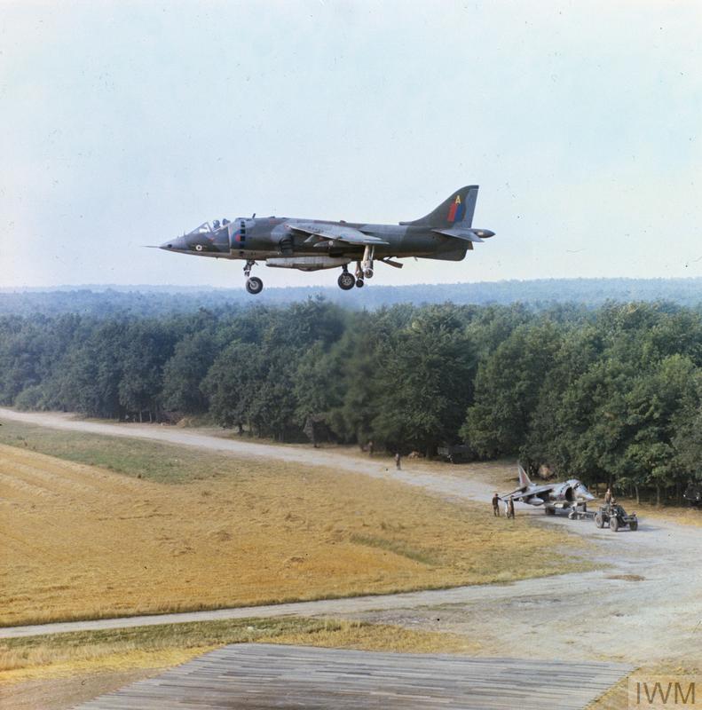 Hawker Siddeley Harrier hovering