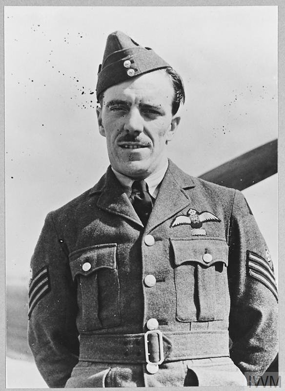Flight Sergeant Harry Steere DFM of No. 19 Squadron at Fowlmere, September 1940.