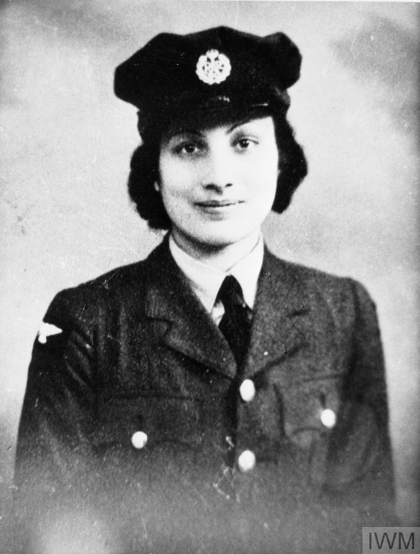 © IWM (HU 74868) Hon. Assistant Section Officer Noor Inayat Khan (code name Madeleine), George Cross, MiD, Croix de Guerre avec Etoile de Vermeil.