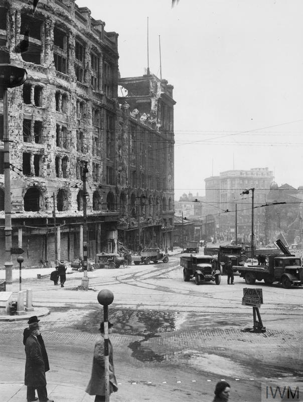 Air raid damage: Liverpool.