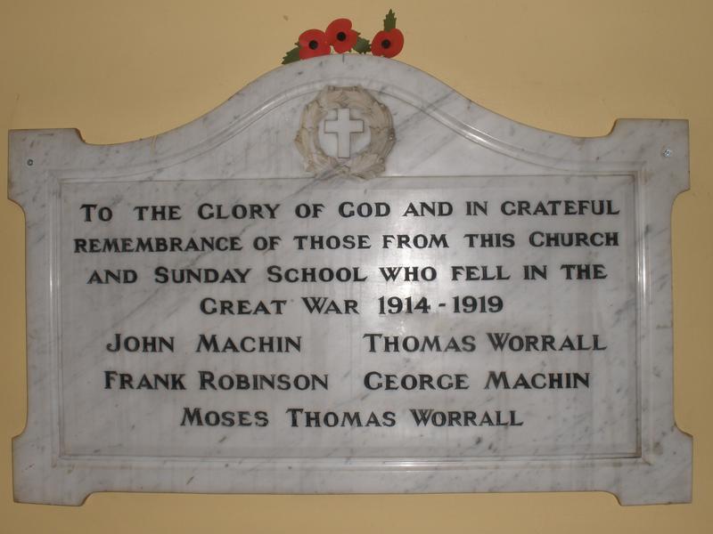 Portland Road Congregational Church WW1   War Imperial War