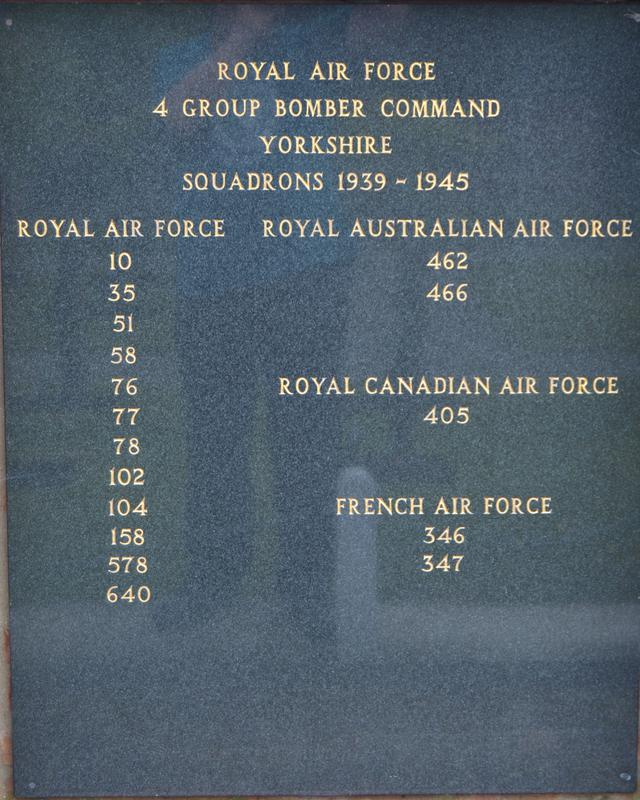 6 Group Rcaf And 4 Group Raf Garden Of Remembrance | War Imperial