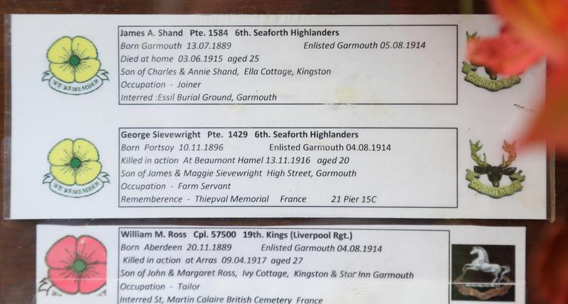 Garmouth District WW1 Roll of Honour | War Imperial War Museums