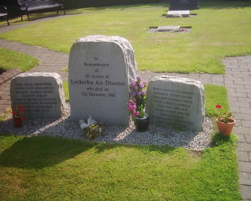 Lockerbie Air Disaster Memorial, Dryfesdale Cemetery ...