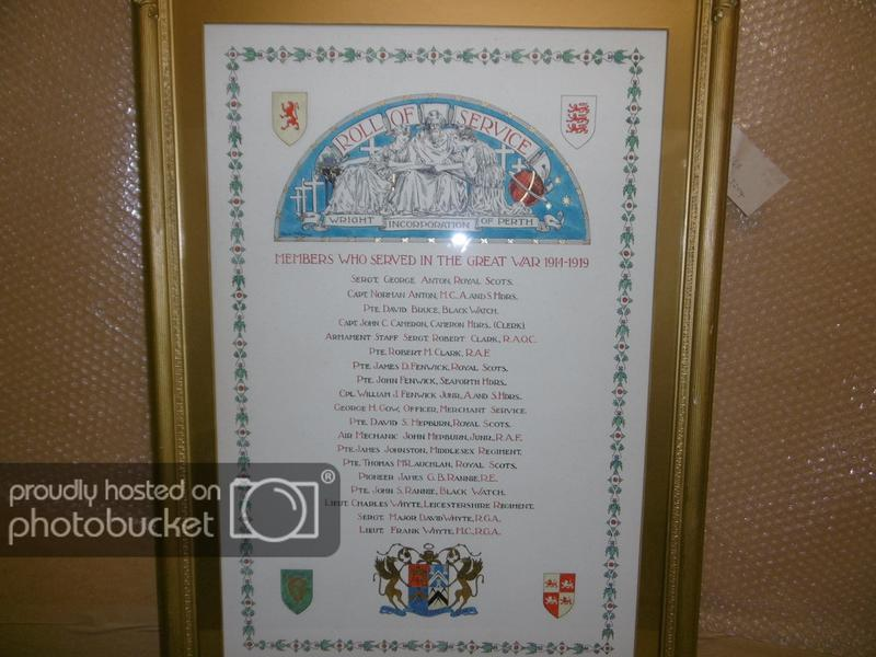 Perth- Wright Incorporation WW1 Roll of Honour | War Imperial War