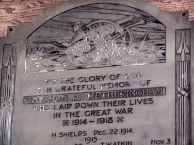 Men Of Metheringham - St Wilfreds Church | War Imperial War