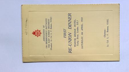 Re-union Association of the East Surrey Regiment