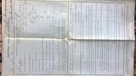Certified Copy of Attestation