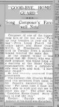 newspaper report on his death