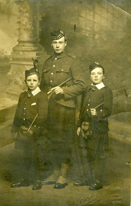 Alexander Auld with two of his brothers