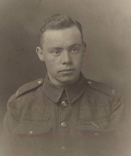 Gnr Harry Smith in his basic RHA uniform