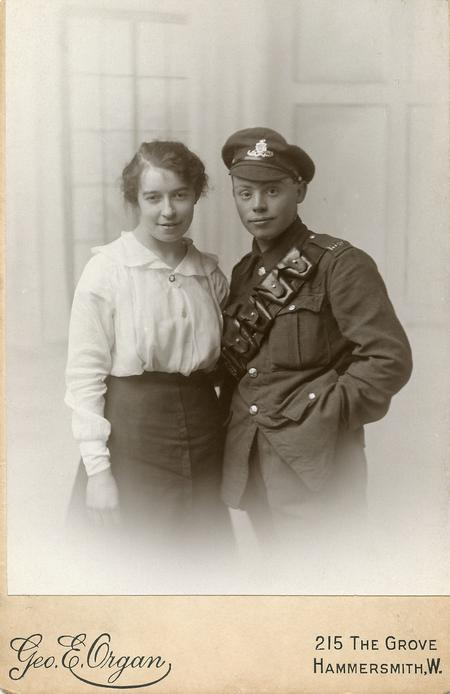 Harry Smith with his fiancee Kathleen Mahon