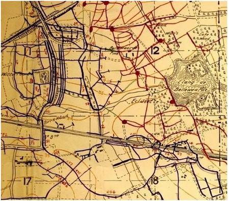 Trench Map Hooge 1916