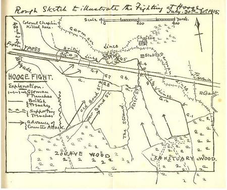 Sketch Map of Hooge area 1915