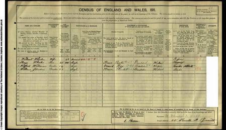 1911 Census Record