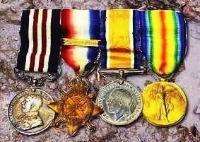 W J Arthurs WW1 Medals