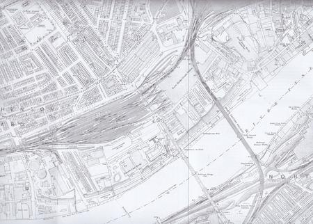 1914 map of Newcastle