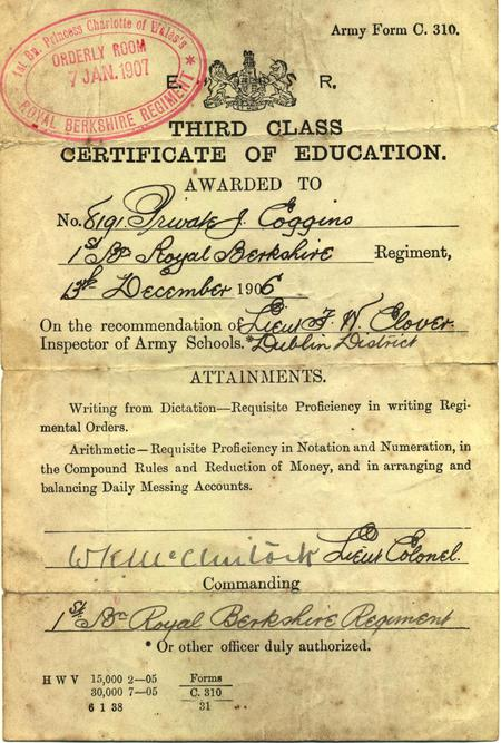 Third Class Certificate of Education