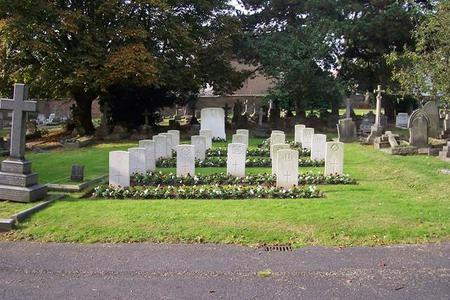 War graves at Hanwell cemetery.