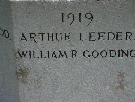 Arthur Leeder - Friston War Memorial