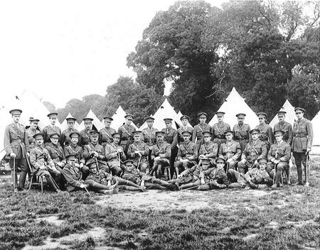 Officers of4/8th Middlesex Regiment