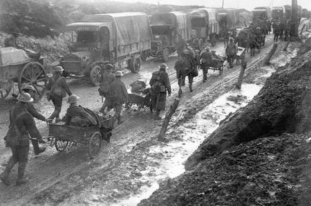 Evacuated from the Somme