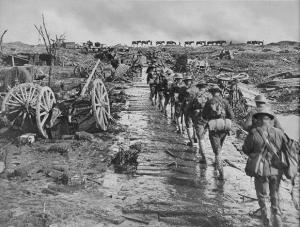 Advancing to Westhoek Ridge in August 1917