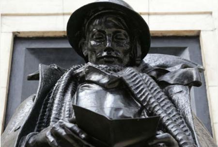 Statue at Paddington Station