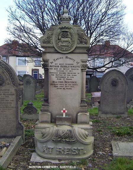 Grave of Arthur Hebblethwaite