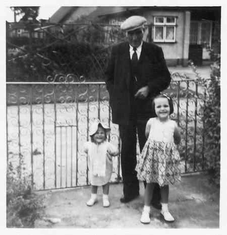 Frederick and his two youngest granddaughters