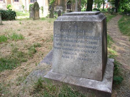 The grave of Cedric Ashleigh Nicholls.