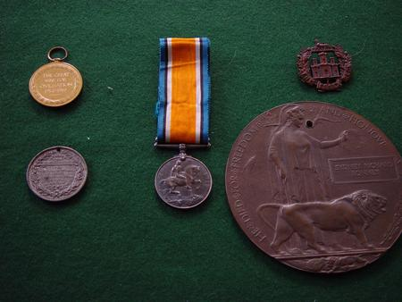 Medals including Victory Medal